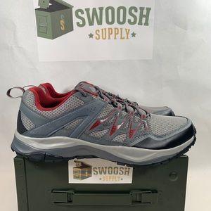 Columbia Hiking Sneaker Size 12 Grey Dk Red BM1902